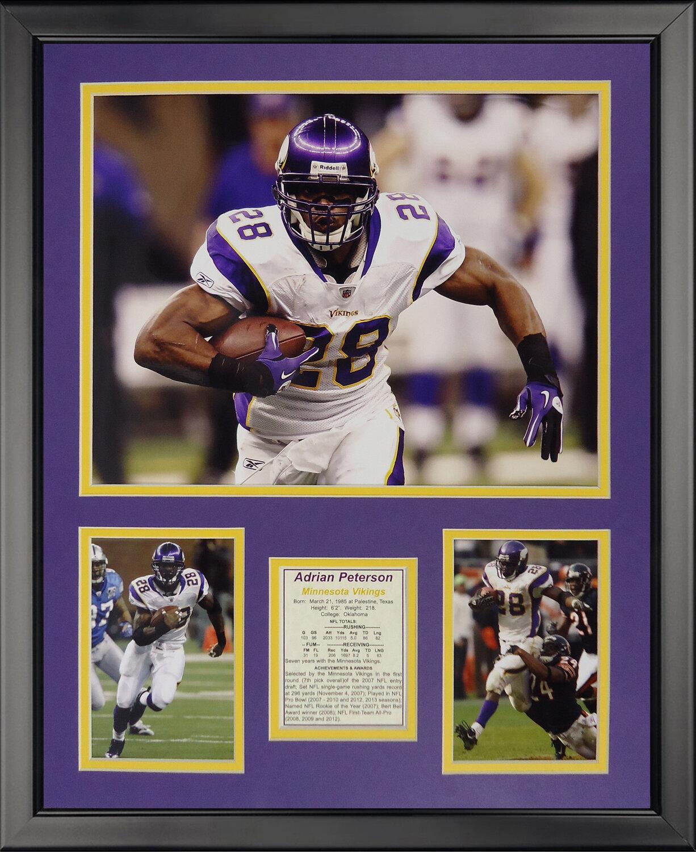 Legends Never Die NFL Minnesota Vikings Peterson Away Framed