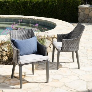 wicker patio dining furniture. backlund wicker patio dining chair with cushion set of 2 furniture c