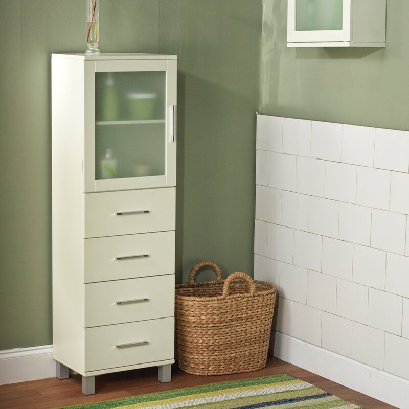 Linen Cabinets & Towers You'll Love | Wayfair
