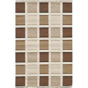 Berg Handmade Kilim Wool Brown Rug by Metro Lane