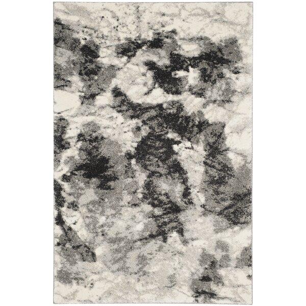 Brayden Studio Bussiere Ivory / Gray Area Rug & Reviews