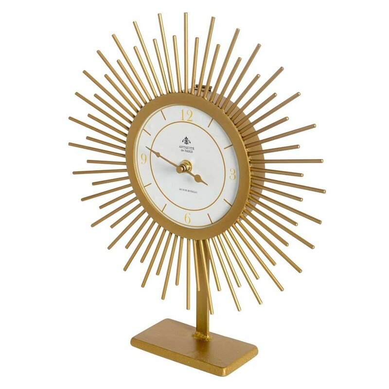 Charmant Gold Tabletop Clock