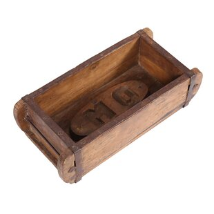 Hand Carved Wooden Brick Mould Decorative Box