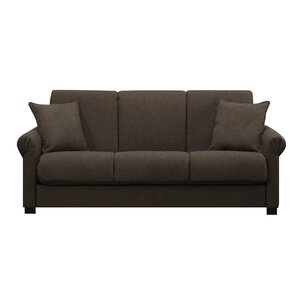lawrence full convertible upholstered sleeper sofa
