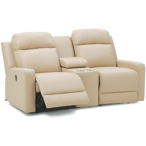 Forest Hill Console Leather Reclining Sofa by Palliser Furniture