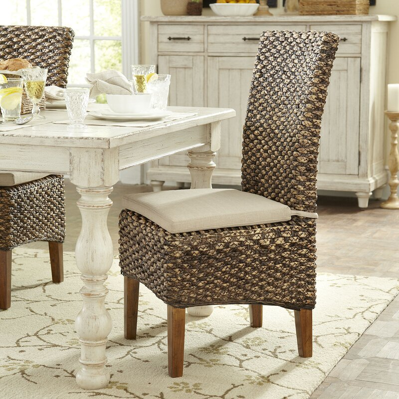 Woven Seagrass Side Chairs  Set of 2. Wicker   Rattan Kitchen   Dining Chairs You ll Love   Wayfair