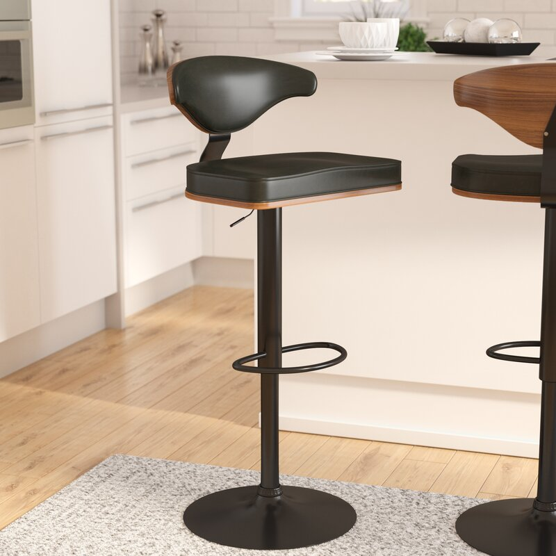 Atropos Adjustable Height Swivel Bar Stool
