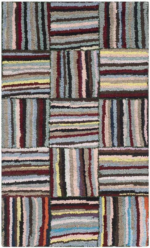 safavieh handgefertigter teppich aus baumwolle in rot blau bewertungen. Black Bedroom Furniture Sets. Home Design Ideas