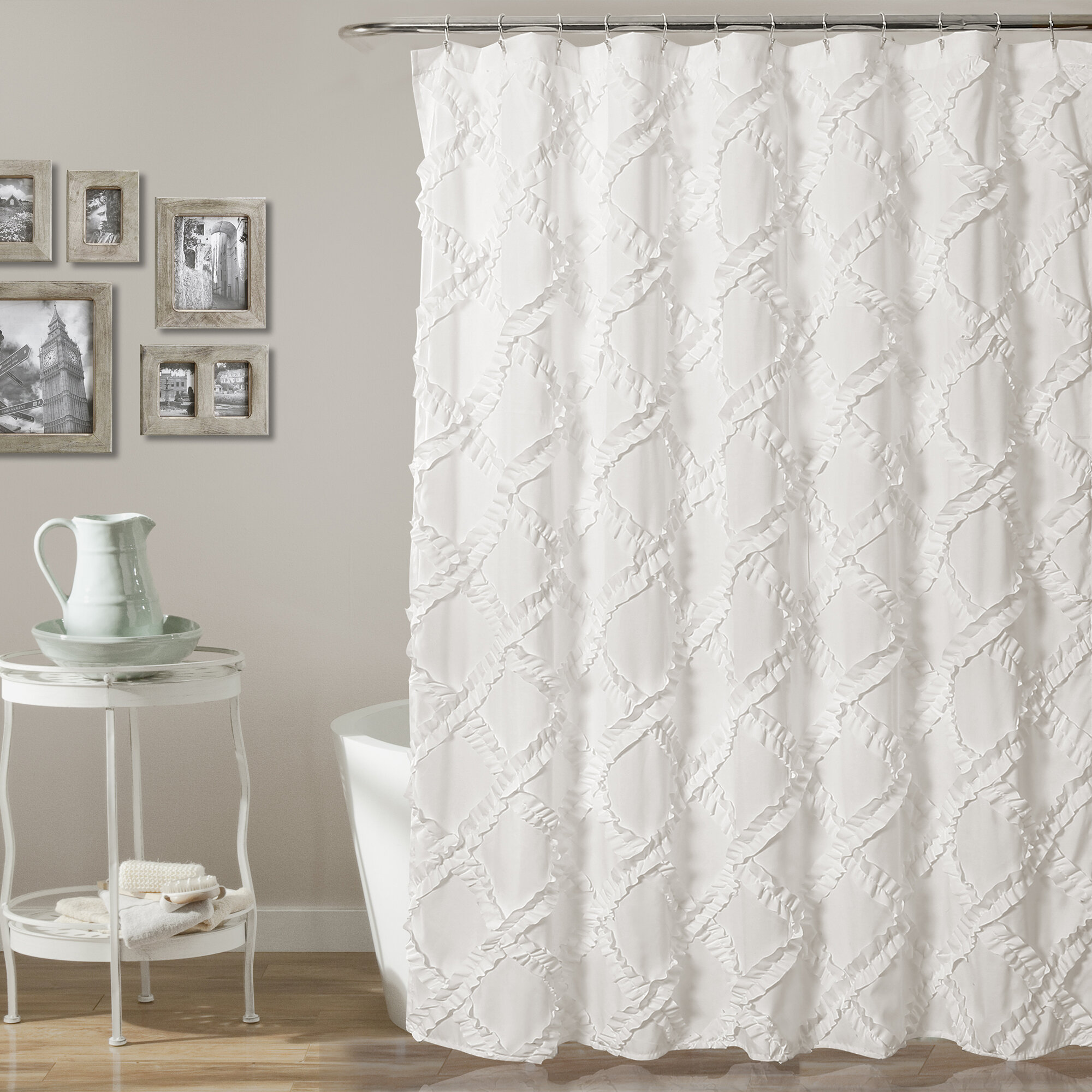 Lark Manor Ornellas Single Shower Curtain Reviews