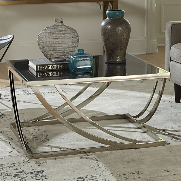 wade logan lucio arch curved sculptural coffee table & reviews