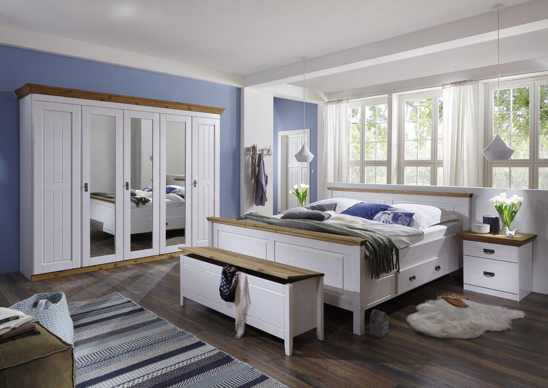 sommerallee massivholzbett castleford mit stauraum bewertungen. Black Bedroom Furniture Sets. Home Design Ideas