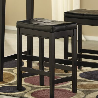 Justine 24 Bar Stool (Set of 2) Andover Mills Upholstery: Brown