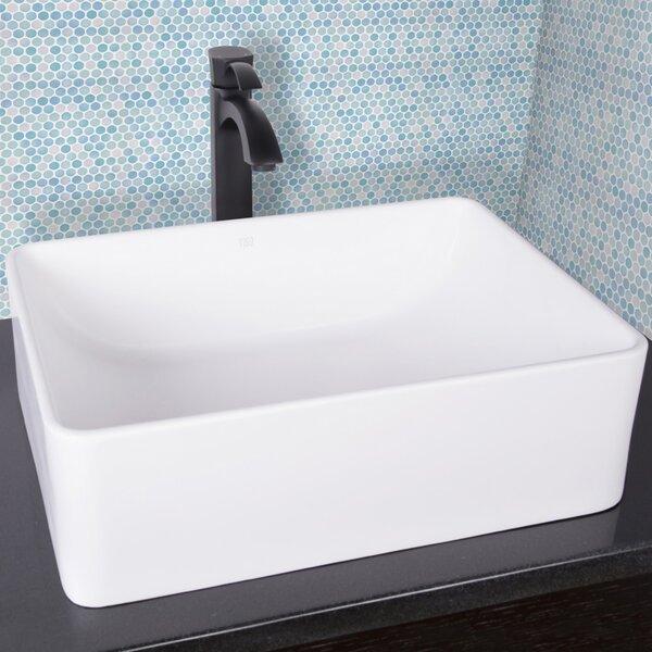 Bathroom Sinks Rectangular vigo amaryllis rectangular vessel bathroom sink & reviews | wayfair