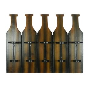 5 Bottle Wall Mounted Wine Bottle Rack by ESSENTIAL D?COR & BEYOND, INC