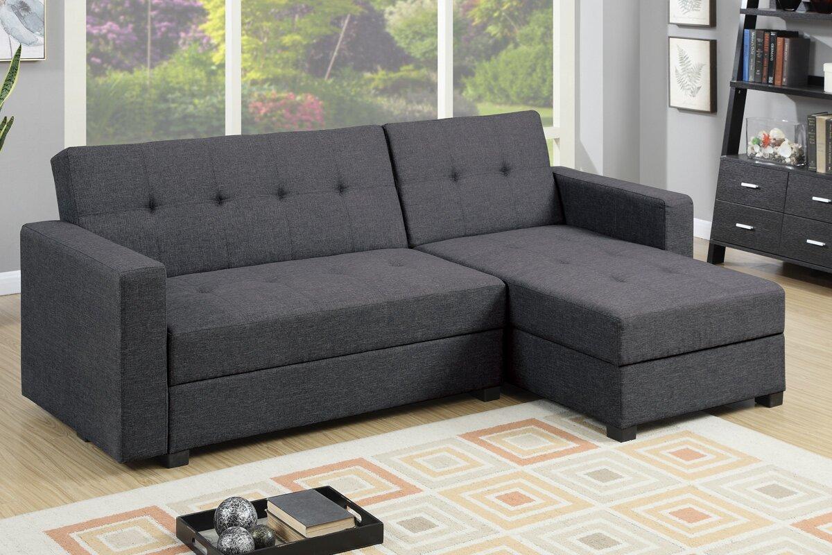 Mercury Row Danos Reversible Sleeper Sectional & Reviews
