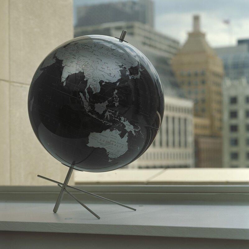 replogle mikado slate gray world globe reviews wayfair. Black Bedroom Furniture Sets. Home Design Ideas