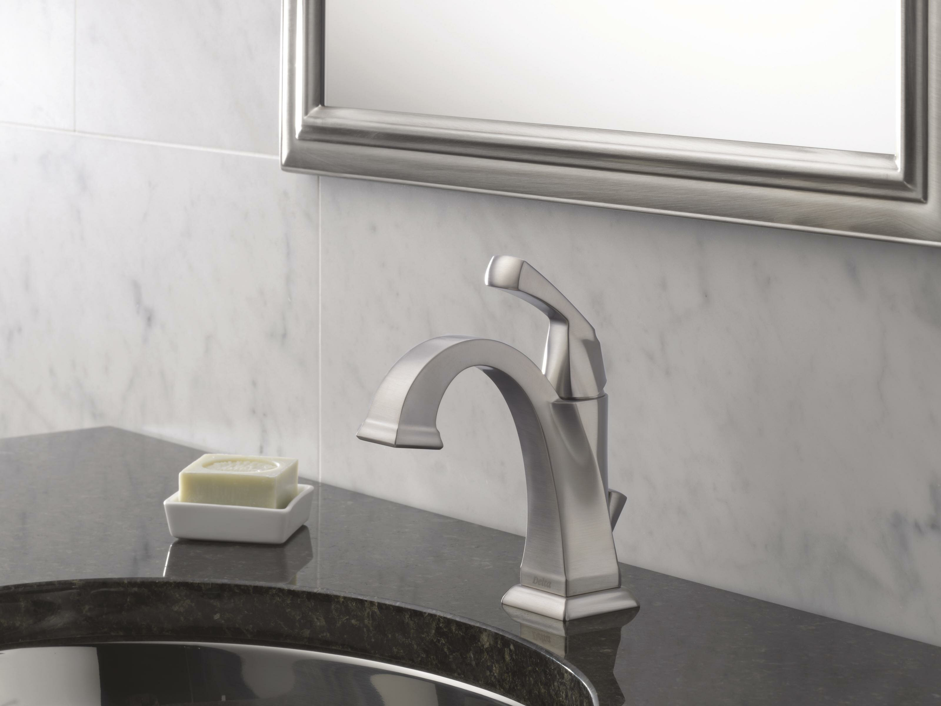 Delta Dryden Single hole Bathroom Faucet with Drain Assembly and ...
