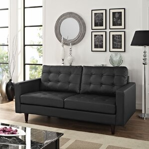 Princess Leather Loveseat by Modway