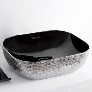 Superieur +1. Whitehaus Collection. Isabella Plus Vitreous China Rectangular Vessel  Bathroom Sink