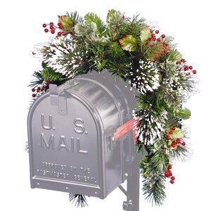 Pine Mailbox Swag