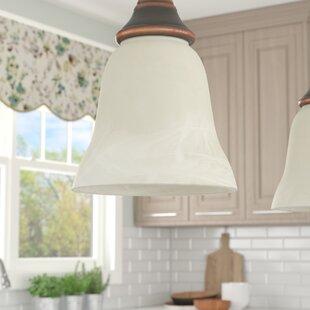 Pendant shades youll love wayfair 55 glass bell pendant shade aloadofball Image collections