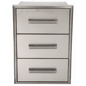 stainless 3 drawer cabinet - Coyote Grills