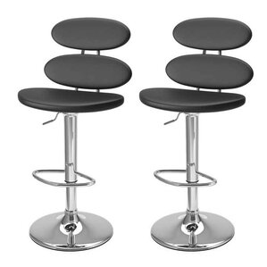 Fort Peck Adjustable Height Swivel Bar Stool (Set of 2) by Wade Logan