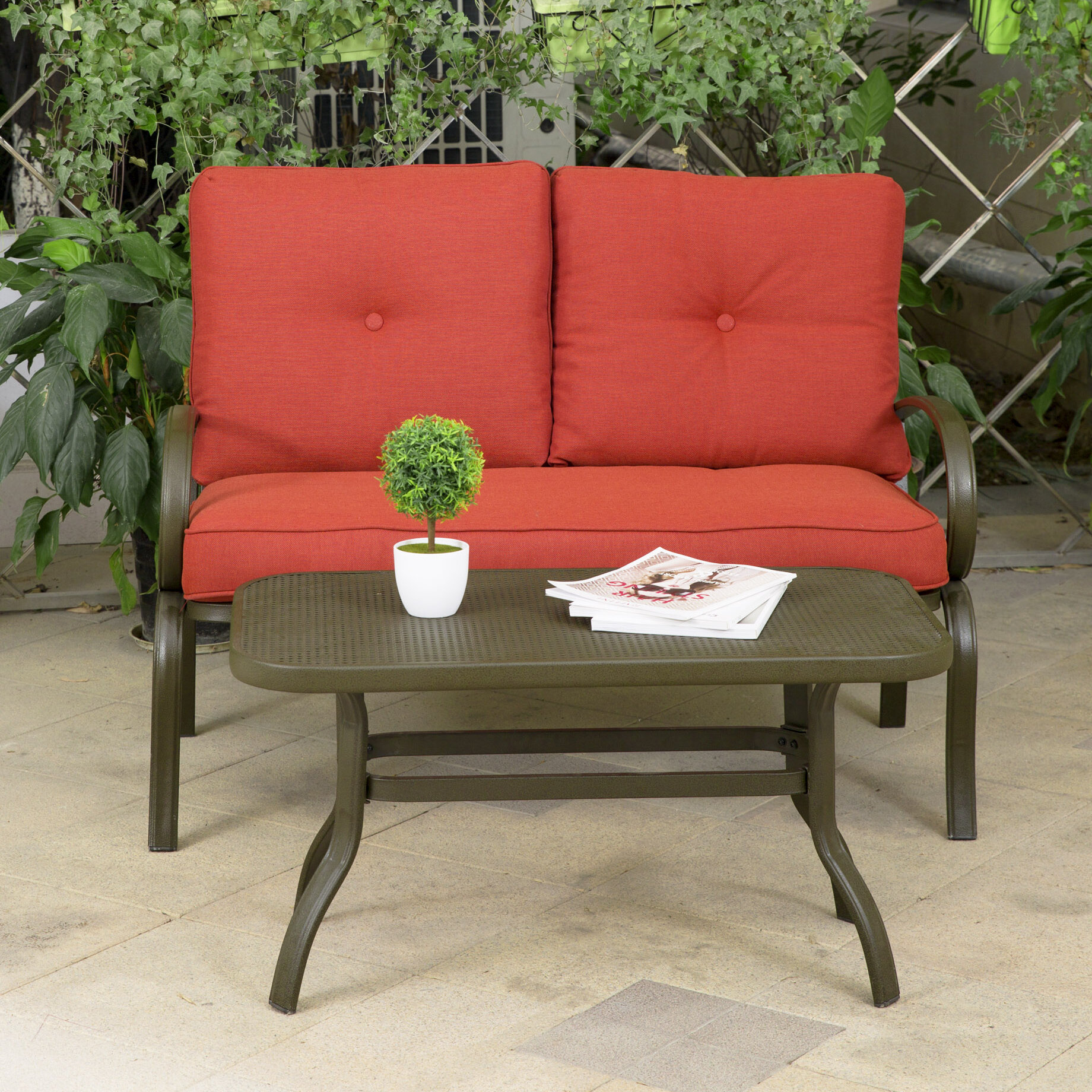 Fleur De Lis Living Courtois 2 Piece Sofa Seating Group With ...