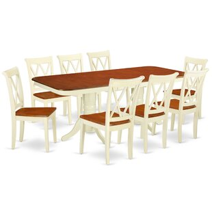 Kreutzer 9 Piece Extendable Solid Wood Dining Set