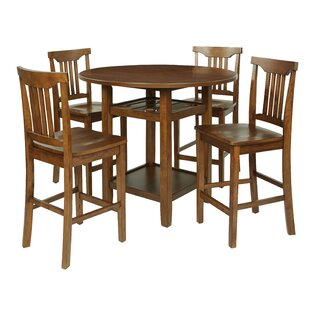 East Village 5 Piece Counter Height Breakfast Nook Dining Set