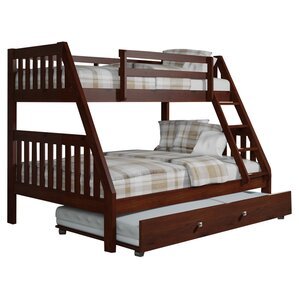 Washington Twin over Full Bunk Bed with Trundle by Donco Kids