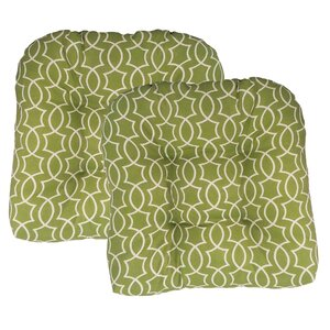 Maryville Tufted Outdoor Dining Chair Cushion (Set of 2)