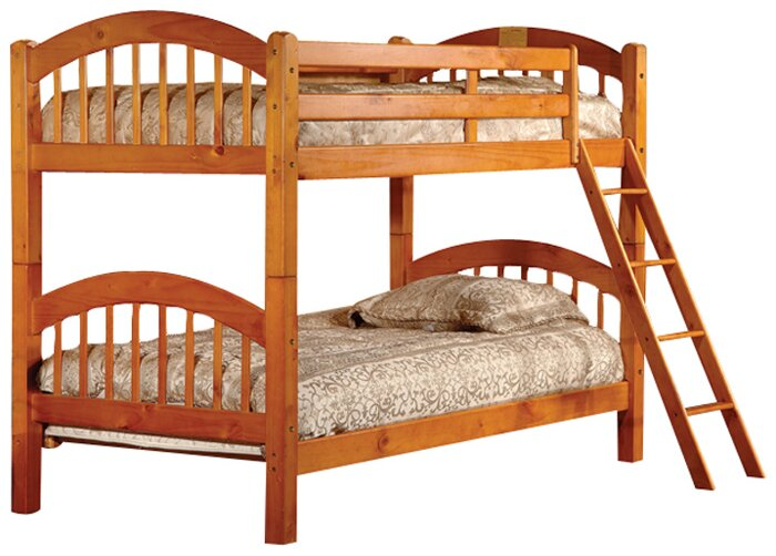 cassidy arched twin over twin bunk bed