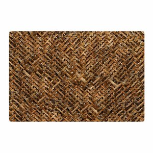 Susan Sanders Bamboo Basket Weave Photography Brown/Tan Area Rug