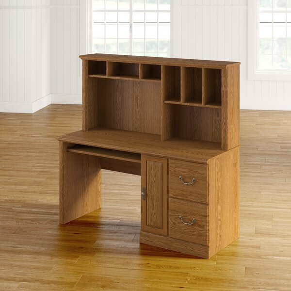 Charlton Home Oxford Computer Desk With Hutch & Reviews