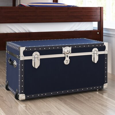 Oriental Furniture Faux Leather Renoir The Seine Trunk CAN TRNK RENOIR2 Storage  Trunks
