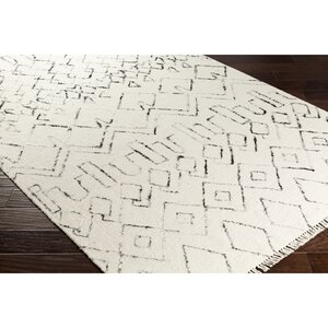 Hassani Hand-Woven Neutral/Black Area Rug