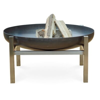 Curonian Parnidis Stainless Steel Wood Burning Fire Pit Size: 15.4 H x 31.1 W x 31.1 D