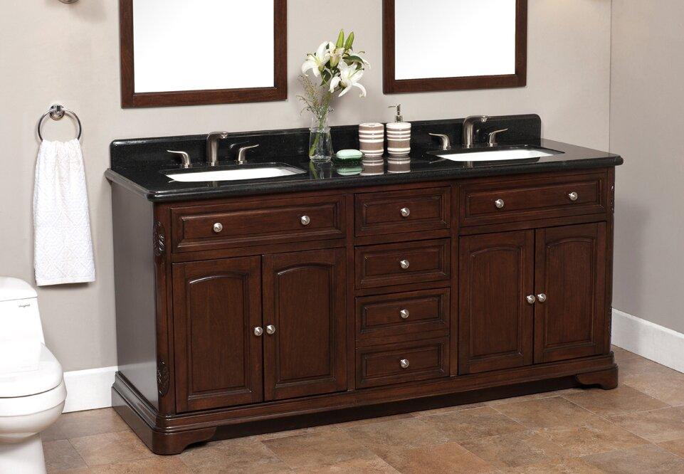 "Bathroom Sinks Vanities El Paso Tx lanza luton 72"" double bathroom vanity set & reviews   wayfair"