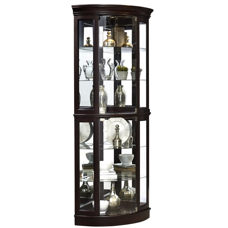 Darby Home Co Blakeway Lighted Corner Curio Cabinet Reviews Wayfair