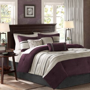 purple bedroom sets. Adelina 7 Piece Comforter Set Modern Purple Bedding Sets  AllModern