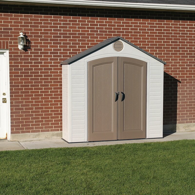 8ft  W x 2 ft  D Plastic Vertical Tool Shed