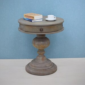 Vintage Industrial End Table by Patina Vie