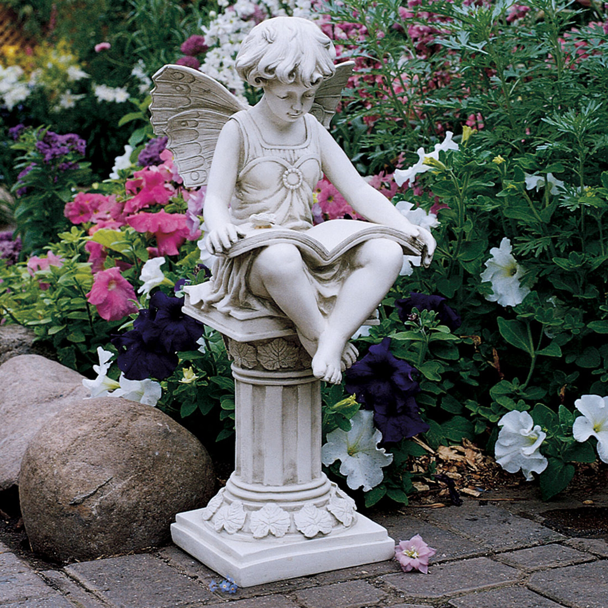 cast stone cat statue garden phoenix hayneedle international cfm master campania product