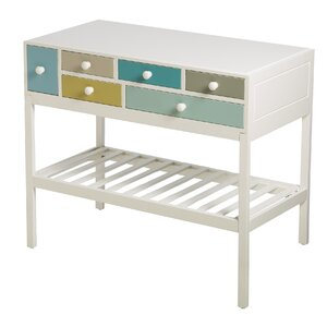 Shruti 6 Drawer Colorful Accent Cabinet