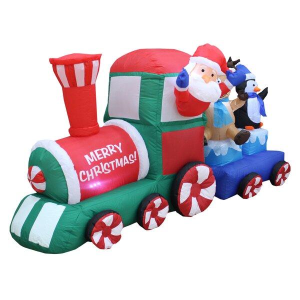 inflatable christmas train wayfair