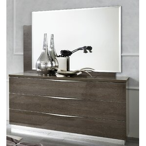 Asberry 3 Drawer Dresser with Mirror by Brayden Studio