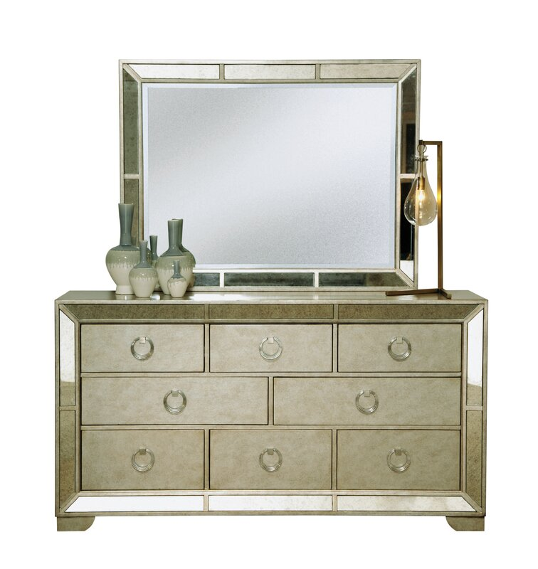 Halstead 8 Drawer Standard Dresser With Mirror