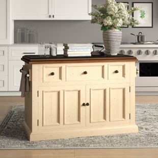 Harris Kitchen Island with Granite Top