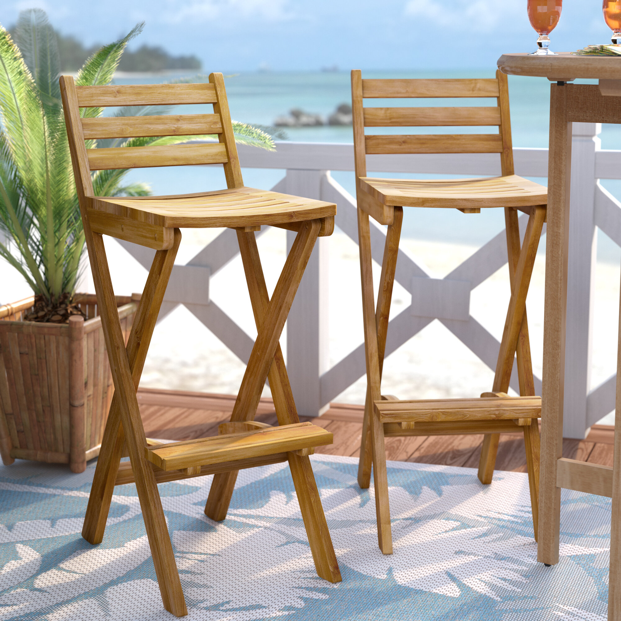 Fantastic Christy 31 Acacia Patio Bar Stool Home Interior And Landscaping Fragforummapetitesourisinfo
